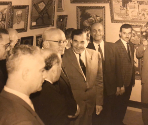 Wajih with then Syrian Prime